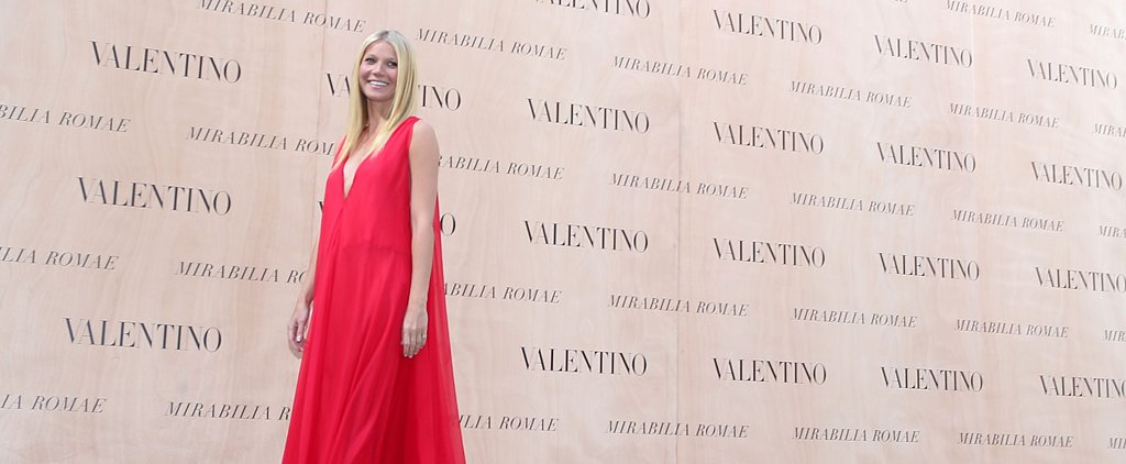 Gwyneth Paltrow Wows in Red at the Valentino Couture Show