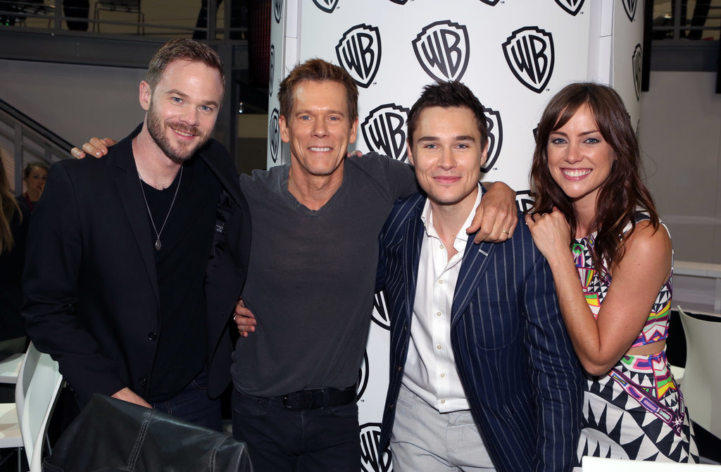 Shawn Ashmore, Kevin Bacon, Sam Underwood and Jessica Stroup of The Following buddied up at a fan event in 2014.