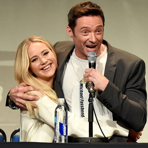 Pictures of Jennifer Lawrence and Hugh Jackman at Comic Con