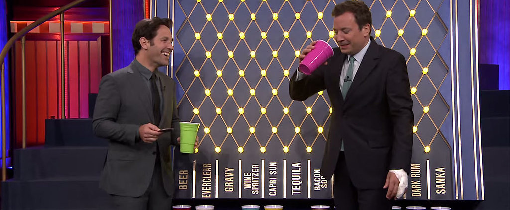 Paul Rudd Shows Off His Drinking Skills With Jimmy Fallon