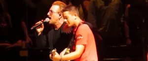Watch This 13-Year-Old Boy Totally Jam on Stage With U2