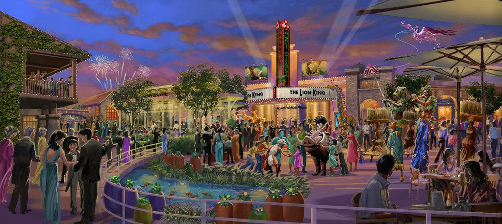 Disneytown的百老匯廣場渲染
