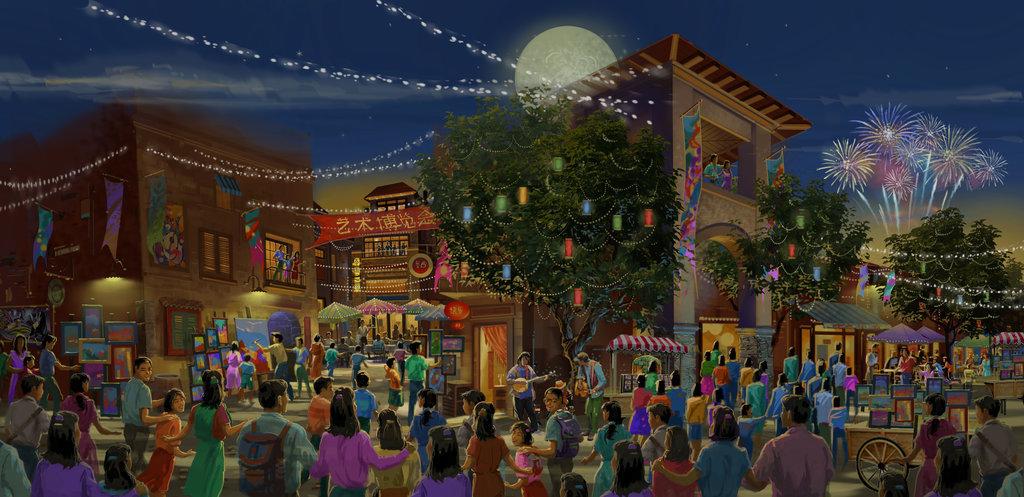 Disneytown的香料巷渲染