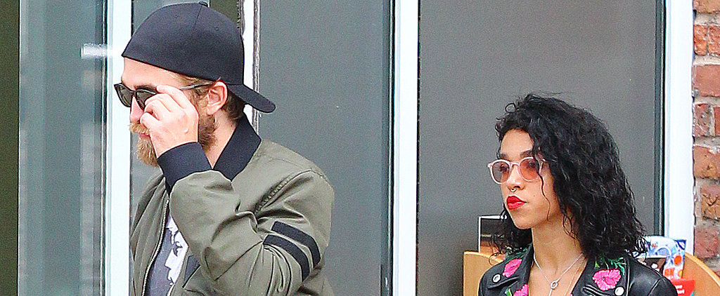 Robert Pattinson Pops Up With FKA Twigs — and a Serious Beard!