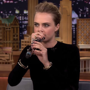 Cara Delevingne Beatboxing on Jimmy Fallon
