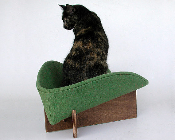With a cozy, taco-like shape, this kitty bed ($97) is bound to become a feline favorite very quickly.