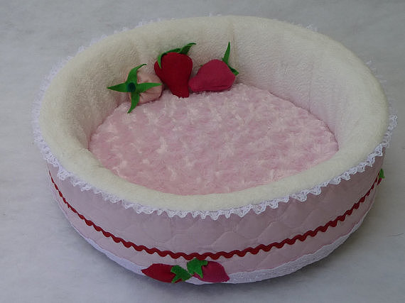 Not only is this strawberries and cream bed ($60) beyond adorable, but it also comes with organic cat-nip toys.