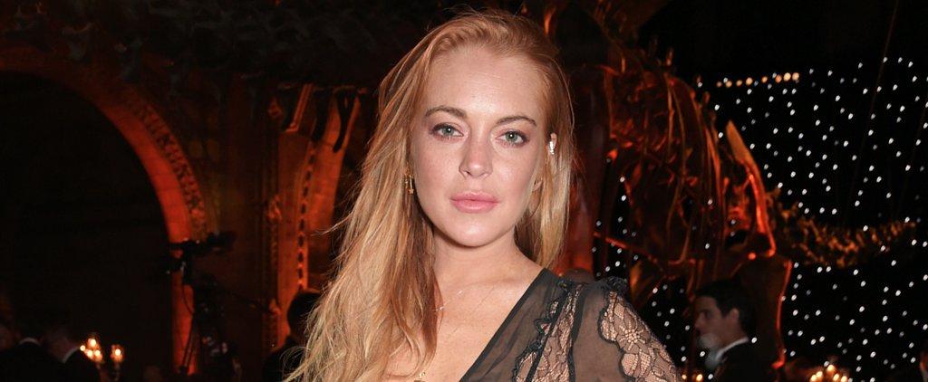Lindsay Lohan Shares a Makeup-Free Selfie