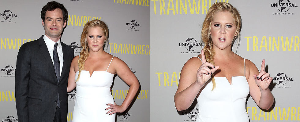On the Red Carpet With Trainwreck's Amy Schumer and Bill Hader