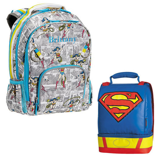 Superhero Backpacks and Lunch Boxes