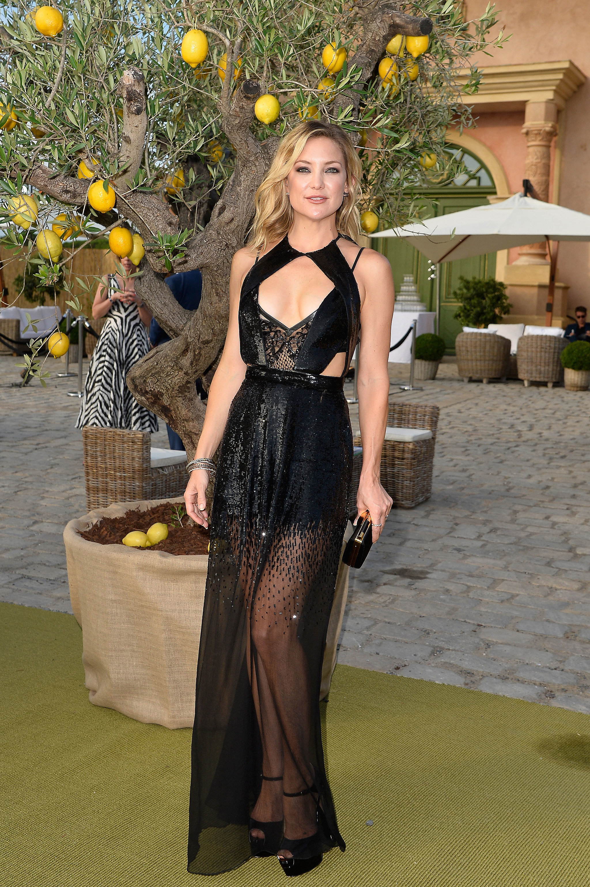 Kate Stepped Out in a Glittering Cutout Julien MacDonald Dress