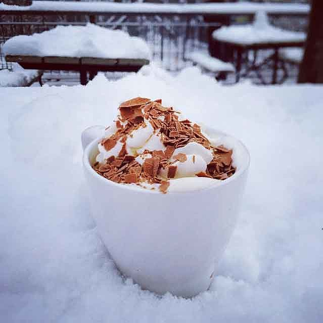 The Hot Chocolate Looks Like This