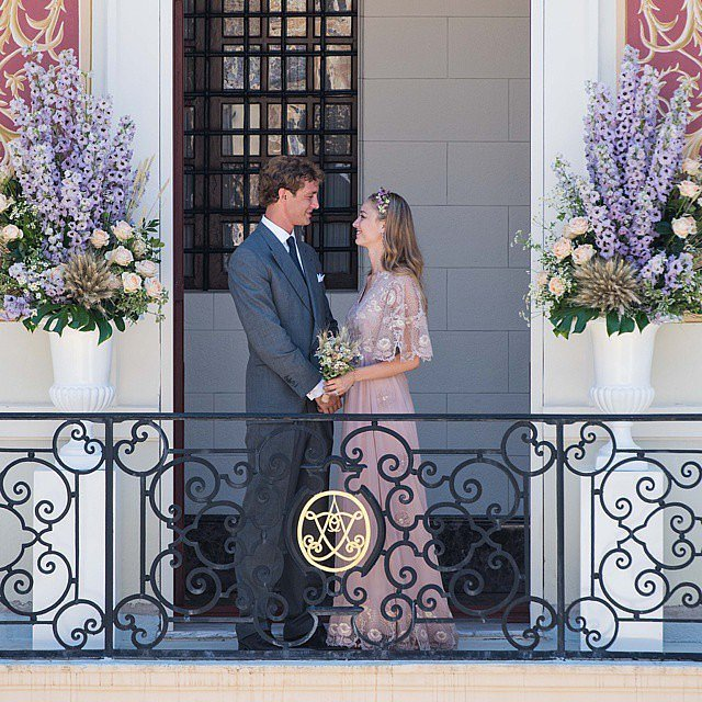 Pierre Casiraghi and Beatrice Borromeo wed at Monaco's Pink Palace in July 2015. The Monaco royals followed it up with a second weekend of celebrations on Beatrice's family's private island in Italy.