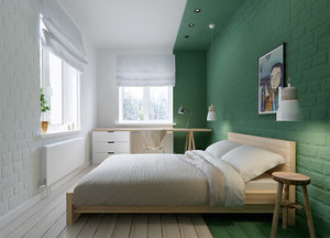Steal This Look: A Color-Blocked Bedroom in Moscow