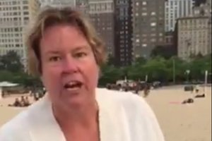 Just Look At This Asshole: Racist Woman Goes On Unhinged Rant At The Beach