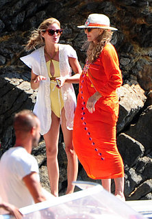 Olivia Palermo Yellow Swimsuit in Ibiza