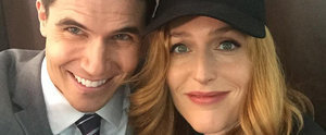 Mulder Who? Robbie Amell Cuddles Up to Gillian Anderson on The X-Files Set