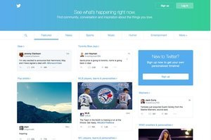 Twitter's New Homepage Goes Into Wide Release Today