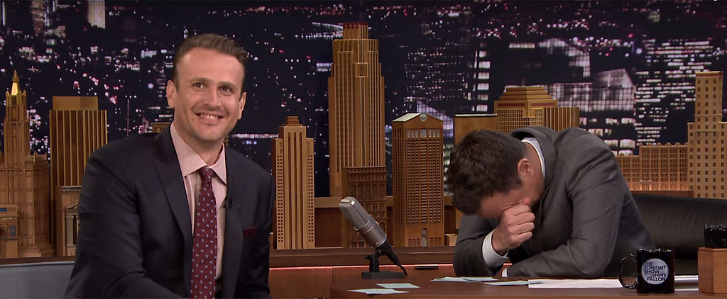 Jason Segel Is Ridiculously Charming While Playing Word Sneak With Jimmy Fallon