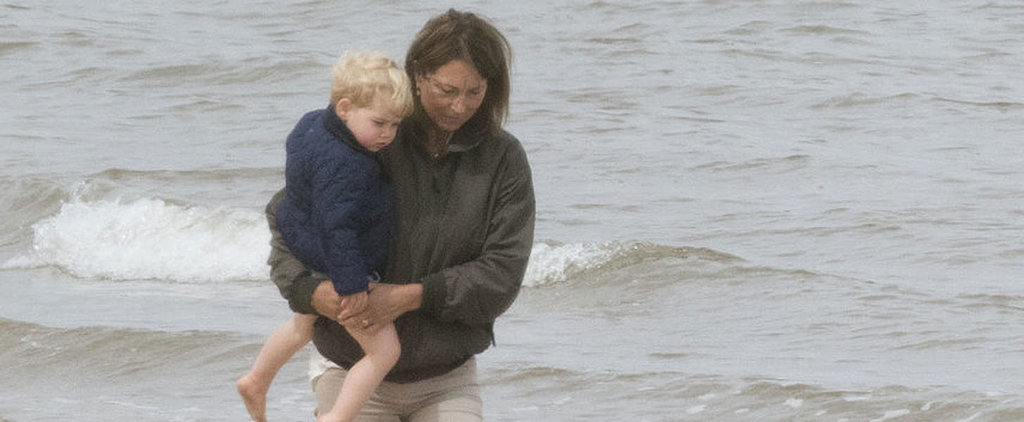 Exclusive: Prince George Has the Cutest Beach Day With His Grandma
