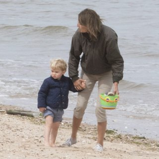 Prince George Pictures on the Beach With Carole Mi