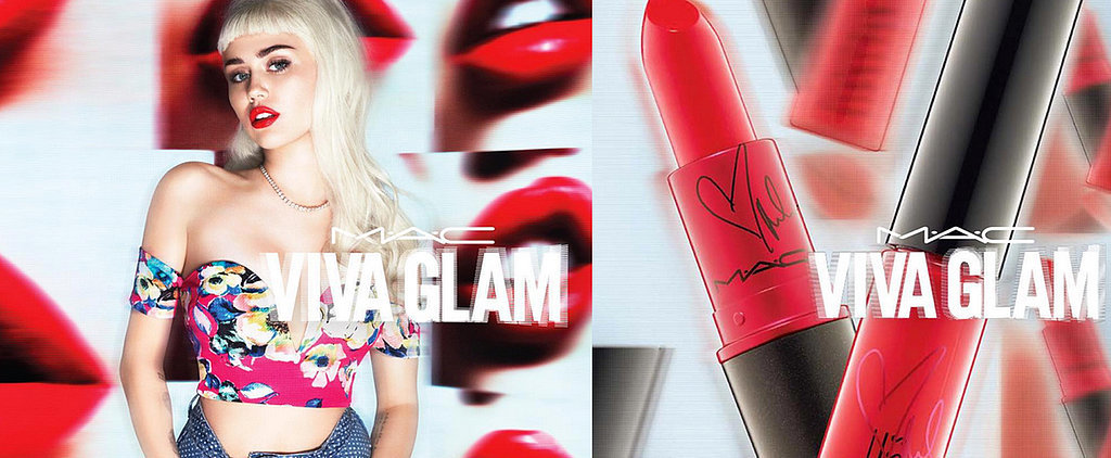 Miley Cyrus Rocks Baby Bangs and a Red Lip For Her New MAC Campaign