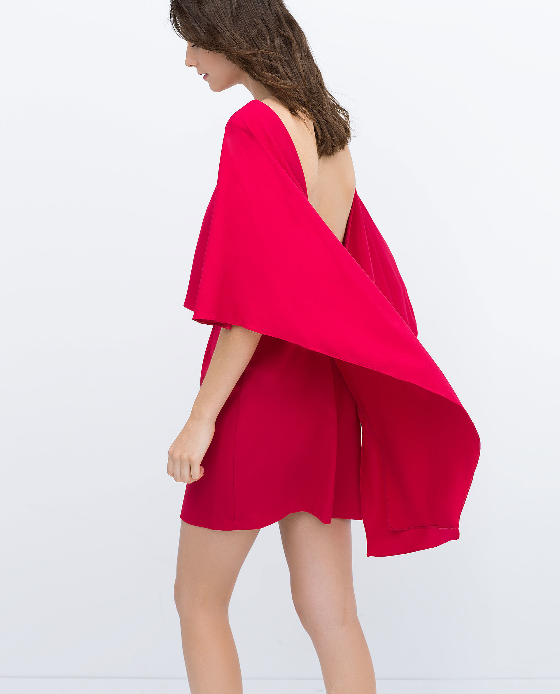 zara cape dress with low back 100 26 flawless dresses for your end of summer party plans. Black Bedroom Furniture Sets. Home Design Ideas
