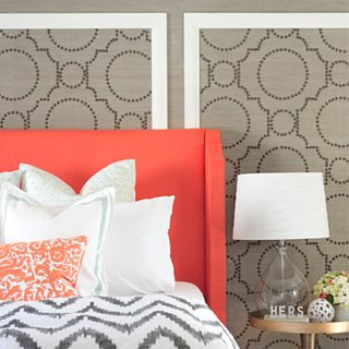 DIY Nailhead and Grasscloth Wall Covering