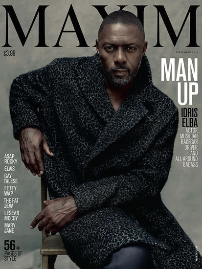 Idris Elba Makes History by Being the First Solo Man to Be Featured on Maxim Cover