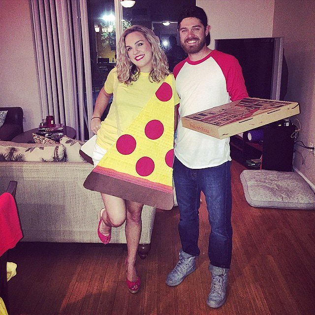 Pizza and Pizza Delivery Boy