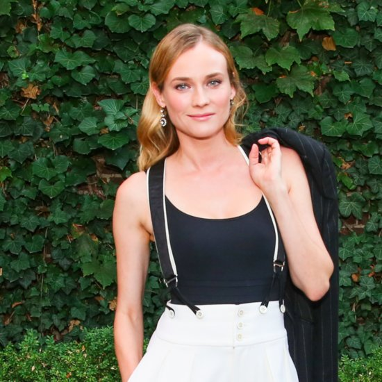 Diane Kruger's Wide-Leg Pants and Suspenders
