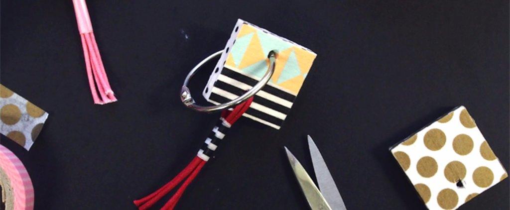 Keep Your Keys Organized With These Stylish DIY Washi Tape Keyrings