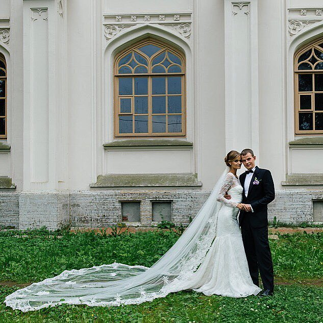 Victoria's Secret Angel Kate Grigorieva tied the knot with her fiancé, Alexander, in St. Petersburg, Russia, in August 2015.