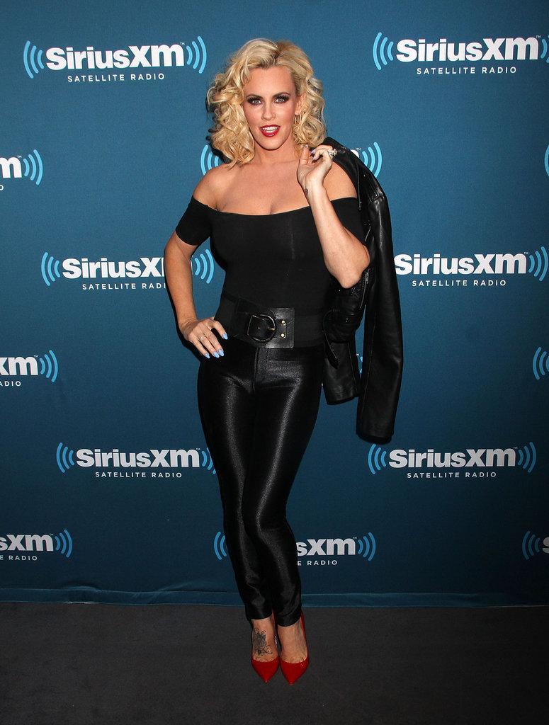 Jenny McCarthy hosted a Halloween party in NYC and channeled Sandy from Grease.