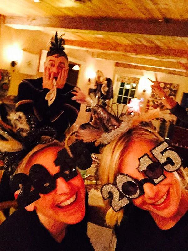 The couple rung in the new year with a bang in January 2015.