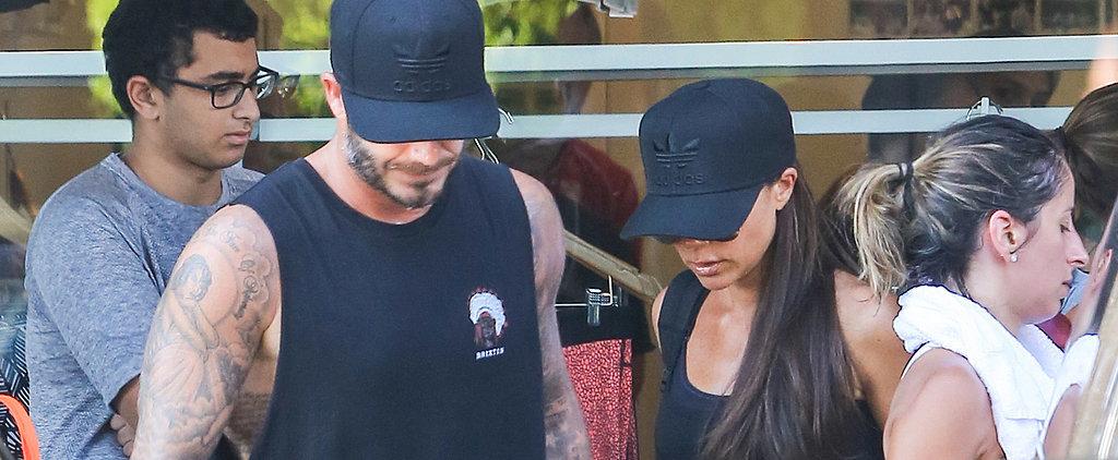 David and Victoria Beckham Bring Brooklyn Along For an Intense Workout