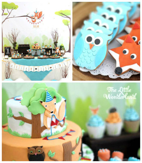 Colorful Woodland Birthday Party