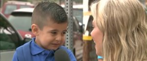 Try Not to Melt as a TV Reporter Makes This Little Boy Cry on His First Day Back to School