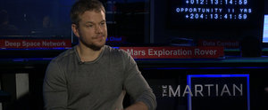 "The Martian's Matt Damon Says ""There's Just No Way"" He Would Survive in Space"