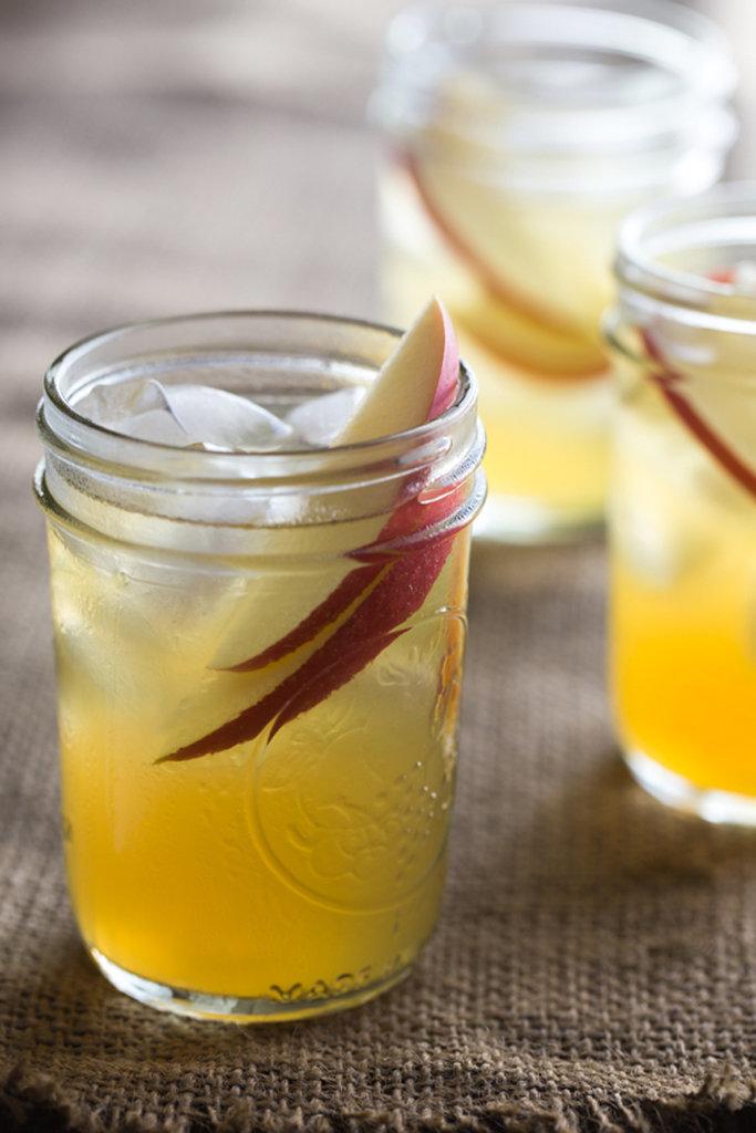 Two-Ingredient Spiked Caramel Apple Cider