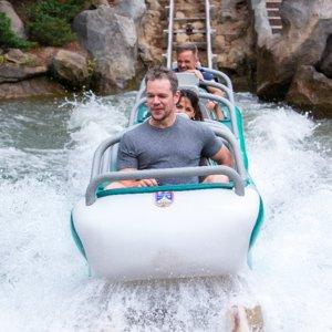Matt Damon Disneyland August 2015 Pictures