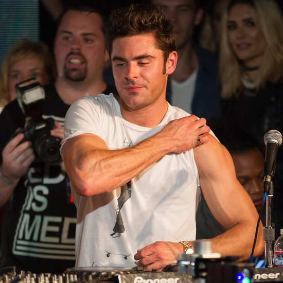 Zac Efron Showing Off His Bicep August 2015
