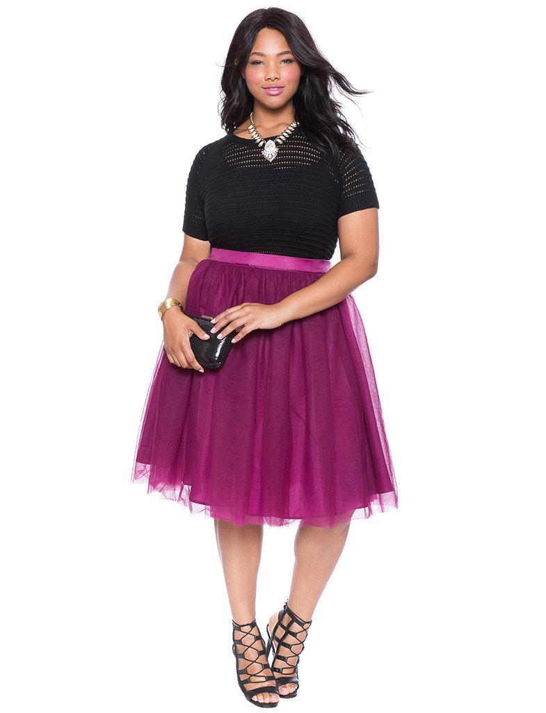 plus size fashion bloggers wearing tulle skirts popsugar fashion. Black Bedroom Furniture Sets. Home Design Ideas
