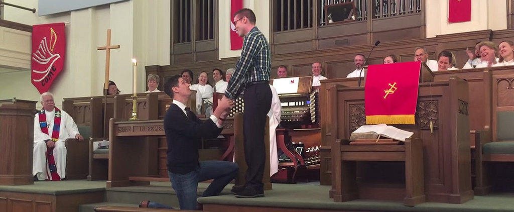A Man Proposed to His Boyfriend in Front of His Entire Church Congregation, and It's Beautiful