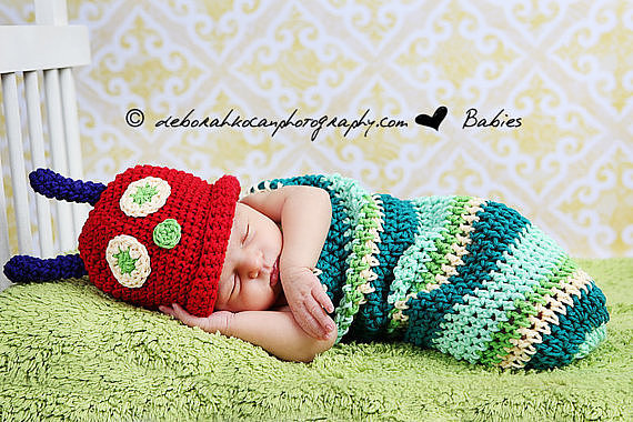 Very Hungry Caterpillar Newborn Costume