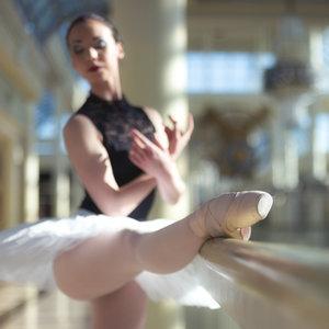 Video of Ballerina Balancing on a BOSU