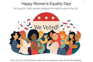 Facebook Celebrates Women's Equality Day With A Little Historical Inaccuracy