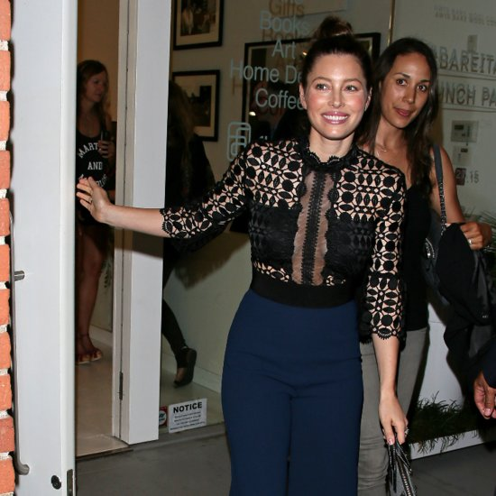 Jessica Biel Night Out in LA August 2015