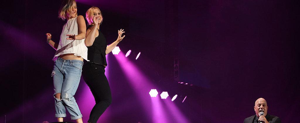 Jennifer Lawrence Dances Barefoot on Billy Joel's Piano, Kisses Amy Schumer's Feet