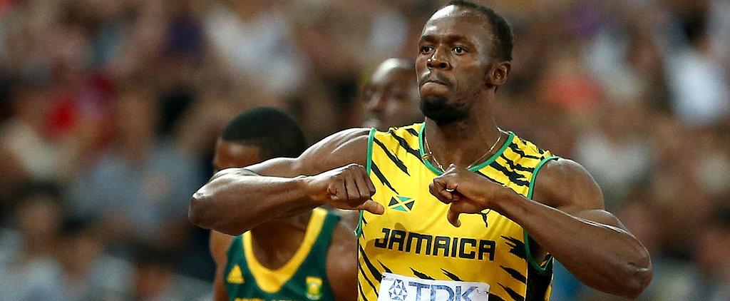 Watch: Usain Bolt Encounters a Runaway Segway on the Tracks